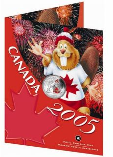 2005 - 25 cent Coloré pour la fête du Canada