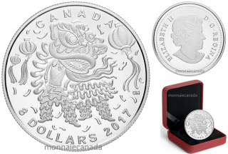 2017 - $8 - Pure Silver Coin – Lion Dance