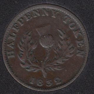 N.S. 1832 Half Penny Token - VF/EF - NS-1D3
