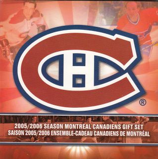2005 2006 Season Montreal Canadiens Gift Set - 25 cents Coloured - 7 Coins Set