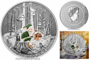 2016 - $25 Fine Silver Coin - Woodland Elf