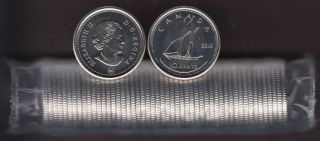 2016 Canada 10 Cents  - BU ROLL 50 Coins - UNC