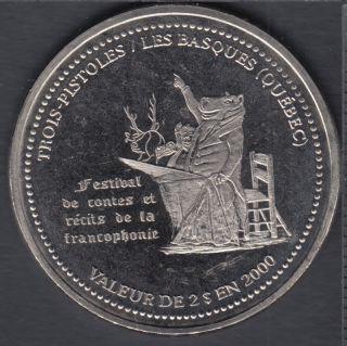 Trois-Pistoles / Les Basques - 2000 - Affiche du Festival de contes et de récits de la francophonie - $2 Trade Dollar