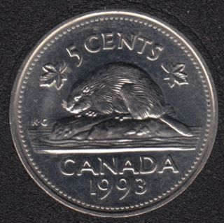1993 - B.Unc - Canada 5 Cents