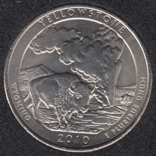 2010 P - Yellowstone - 25 Cents