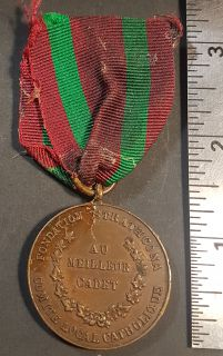 #64 A Quebec issued Lord Strathcona Medal, note Strathcona's bust replaced with Canadian emblem