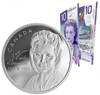 2019 - $20 - Pure Silver Coin and $10 Bank Note Set - Viola Desmond
