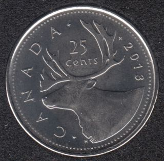 2013 - B.Unc - Canada 25 Cents