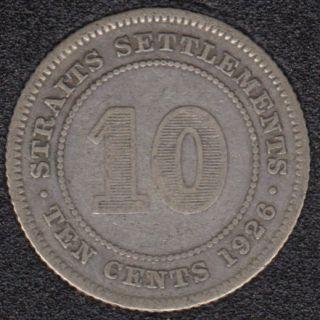 1926 - 10 Cents - Straits Settlements