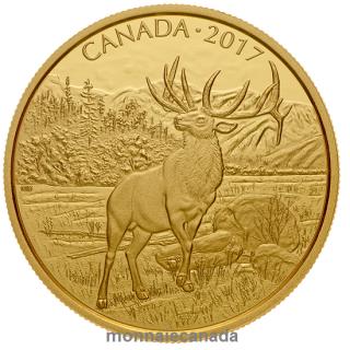 2017 - $350 - Pièce en or pur à 99,999 % - Le majestueux wapiti