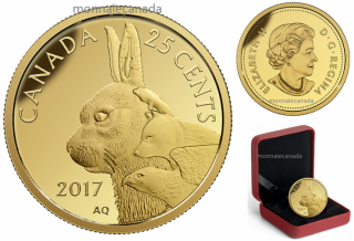 2017 - 25 Cents - 0.5 g Pure Gold Coin – Predator vs. Prey Series: Inuit Arctic Hare
