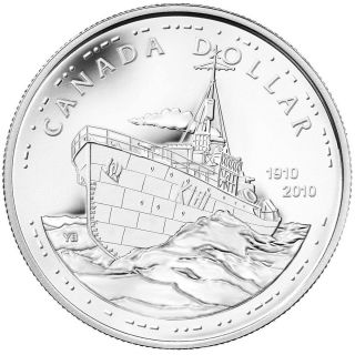 2010 BU SILVER DOLLAR – 100TH ANNIVERSARY OF THE CANADIAN NAVY