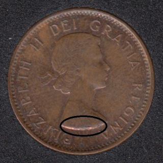 1962 - Break on Bust - Canada Cent