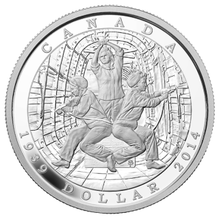 2014 - Proof Fine Silver Dollar - 75th Anniversary of the Declaration of the Second world war