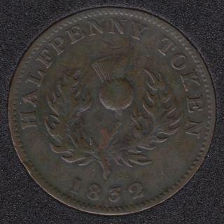 N.S. 1832 Half Penny Token - VF - NS-1D3