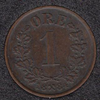1884 - 1 Ore - Norvège