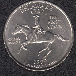 1999 P - Delaware - 25 Cents