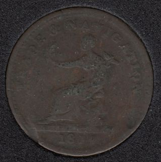 N.S. 1814 Trade & Navigation - Pure Copper Preferable to Paper - One Penny Token - NS-20B3