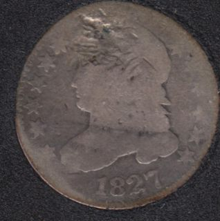 1827 - Capped Bust - Damaged - 10 Cents