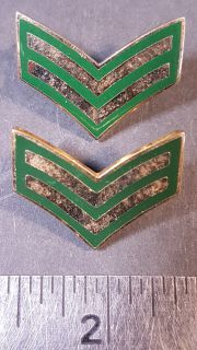 #122 Canadian Military Rank Stripes pin corporal