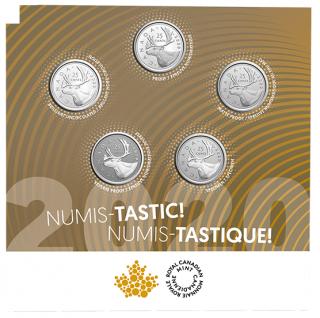 2020 - Ensemble de cinq pièces Numis-tastique!