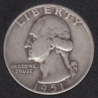 1951 D - Washington - 25 Cents