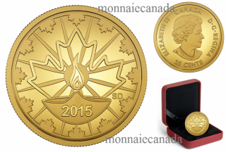 2015 - 25 Cent - 0.5 g Pure Gold Coin –Diwali: Festival of Lights