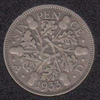 1933 - 6 Pence - Grande Bretagne