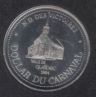 Quebec - 1984 Carnival of Quebec - Eff. 1975 / Eglise N-D des Victoires - Trade Dollar