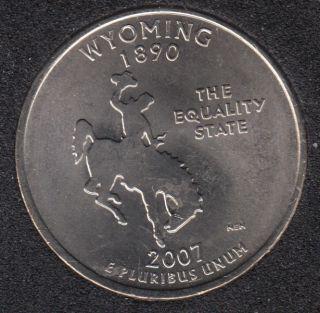 2007 P - B.Unc - Wyoming - 25 Cents