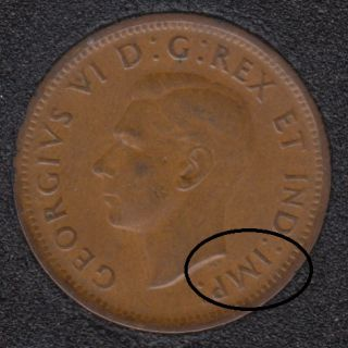 1940 - Break Bust to HP to IM - Canada Cent