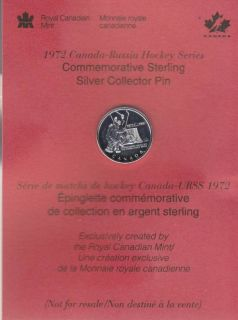 1997 Canada Russia Hockey Series Pin in Sterling Silver