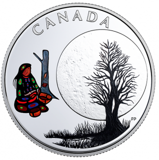 2018 - $3 - Pure Silver Coloured Coin - Thirteen Teachings From Grandmother Moon: Sugar Moon