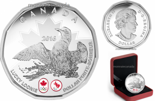 2016 - $1 - Pure Silver Coin – Lucky Loonie