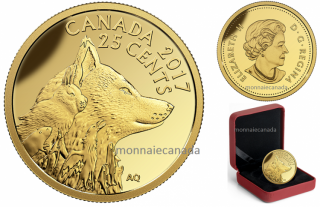 2017 - 25¢ - 0.5 g Pure Gold Coin – Predator vs. Prey Series: Inuit Arctic Fox