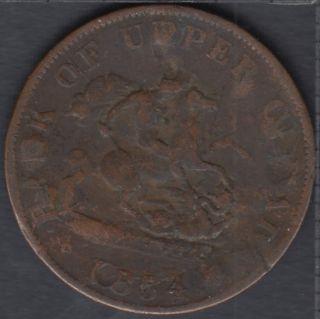 P.C. 1854 Bank of Upper Canada Half Penny - Erreur ? - PC-5C1