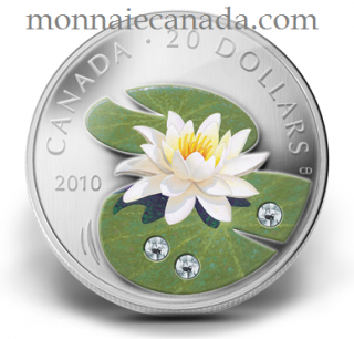 2010 - $20 - Fine Silver Coin - Water Lily - TAX Exempt