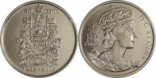 1952 2002 Canada 50 Cents - BU Rouleau 25 pièces