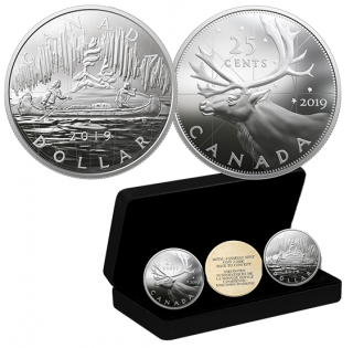 2019 - 2 oz. Pure Silver Two-Coin Set - Royal Canadian Mint Coin Lore: Back to Concept