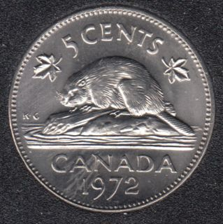 1972 - B.Unc - Canada 5 Cents