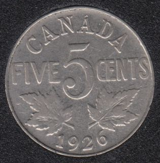 1926 - N '6' - Canada 5 Cents