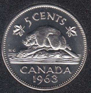 1963 - Proof Like - Canada 5 Cents