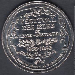 Trois-Pistoles - 1986-1976 - Festival Des Isles - $1 Trade Dollar