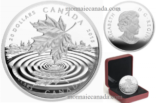 2015 - $20 - 1 oz. Fine Silver Coin - Maple Leaf Reflection