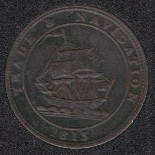 N.S. 1813 Pure Copper Preferable to Paper - Half Penny Token - NS-21A3