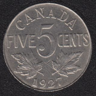 1927 - EF - Canada 5 Cents