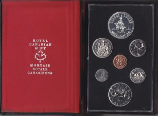 1975 - Double Dollar Proof Set - Calgary Centennial Silver Dollar