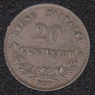 1863 MBN - 20 Centisimi - Italie