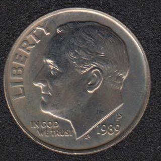 1989 P - Roosevelt - B.Unc - 10 Cents