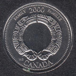2000 - #8 NBU - Famille - Canada 25 Cents